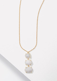 LOFT Oval Stacked Pendant Necklace