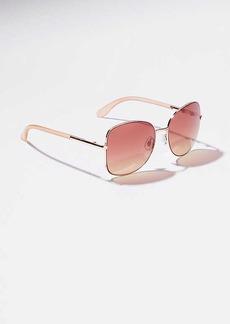 LOFT Oversized Metallic Square Sunglasses