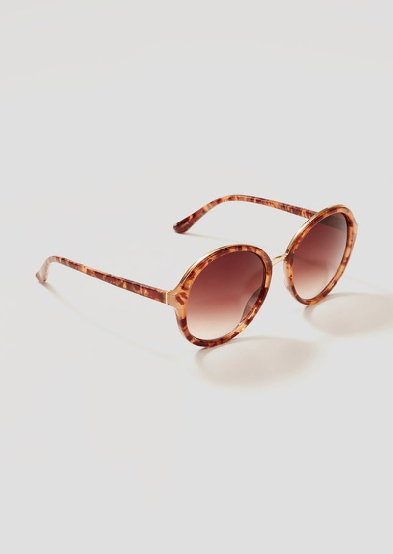 LOFT Oversized Round Sunglasses