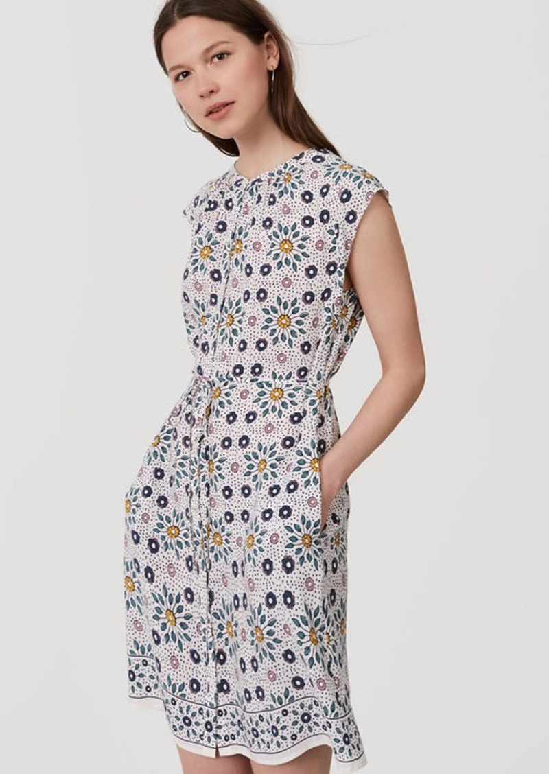 LOFT Painterly Floral Flutter Shirtdress | Dresses