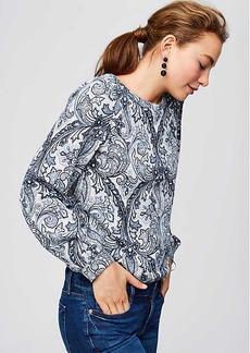 Paisley Blouson Sweatshirt