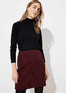 LOFT Paisley Jacquard Shift Skirt