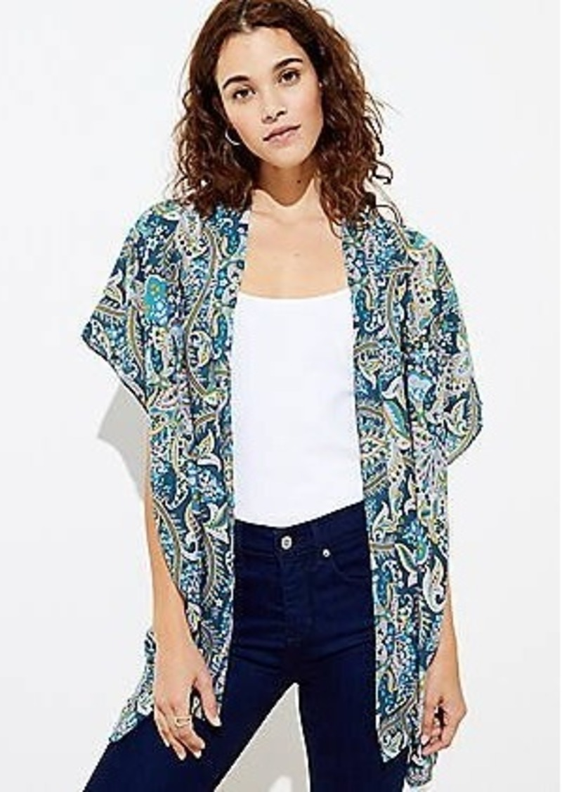 LOFT Paisley Kimono