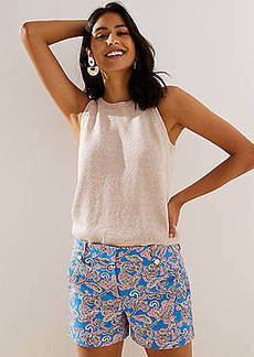 LOFT Paisley Riviera Shorts with 4 Inch Inseam