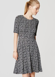 Paisley Short Sleeve Flare Dress