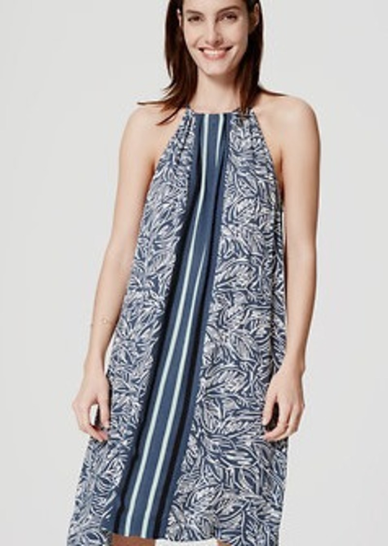 LOFT Palmstripe Halter Dress