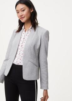 Paneled Knit Blazer