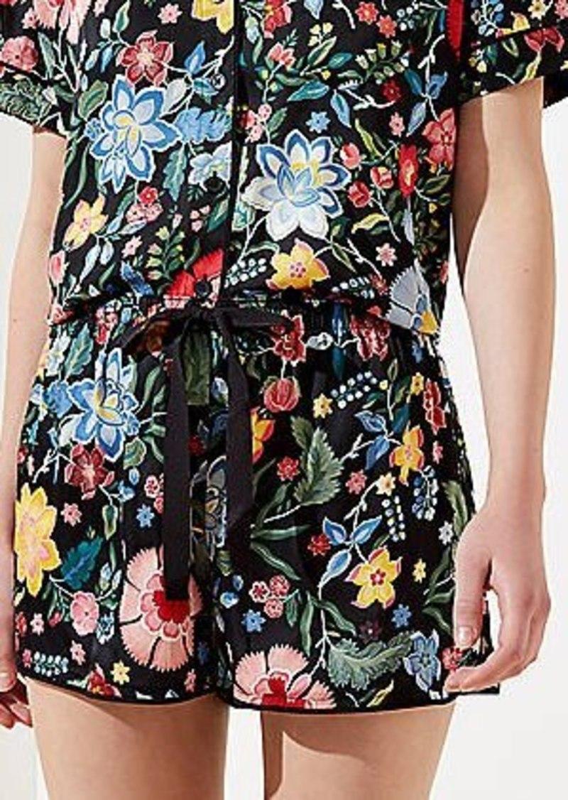 LOFT Pansy Garden Pajama Shorts