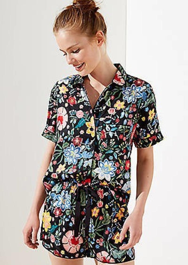 LOFT Pansy Garden Pajama Top