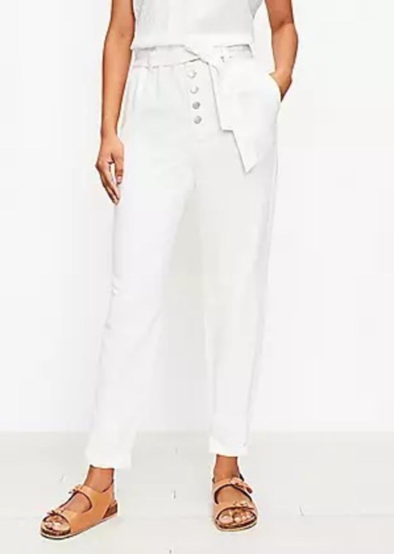 LOFT Paperbag Pull On Jeans