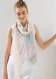 LOFT Pastel Striped Scarf