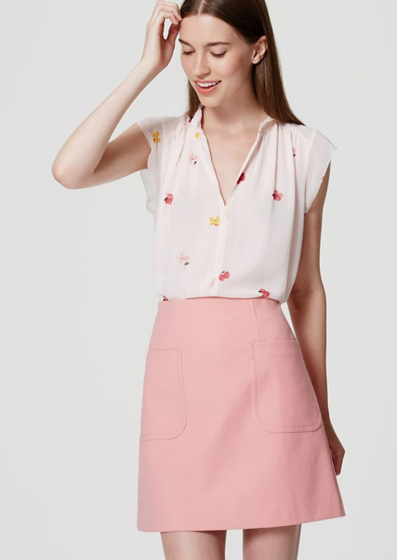 LOFT Patch Pocket Shift Skirt