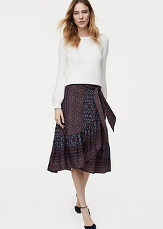 Patchwork Ruffle Wrap Skirt