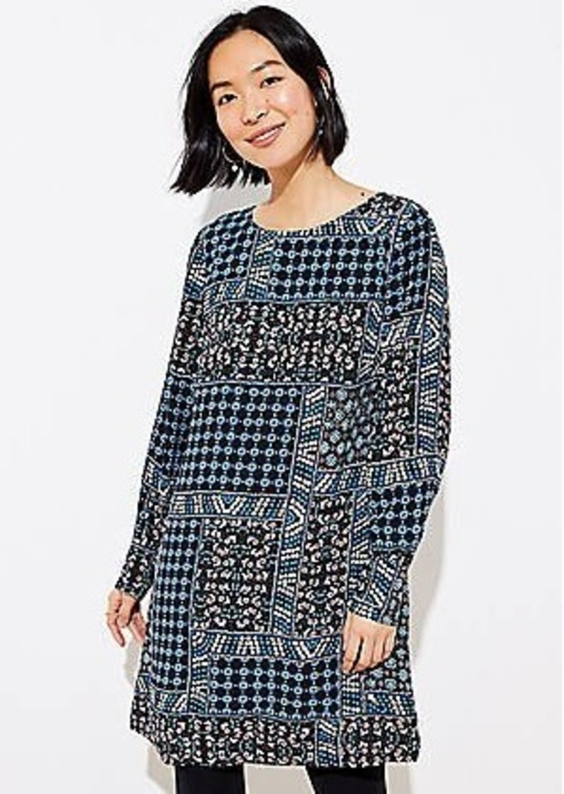 LOFT Patchwork Swing Dress