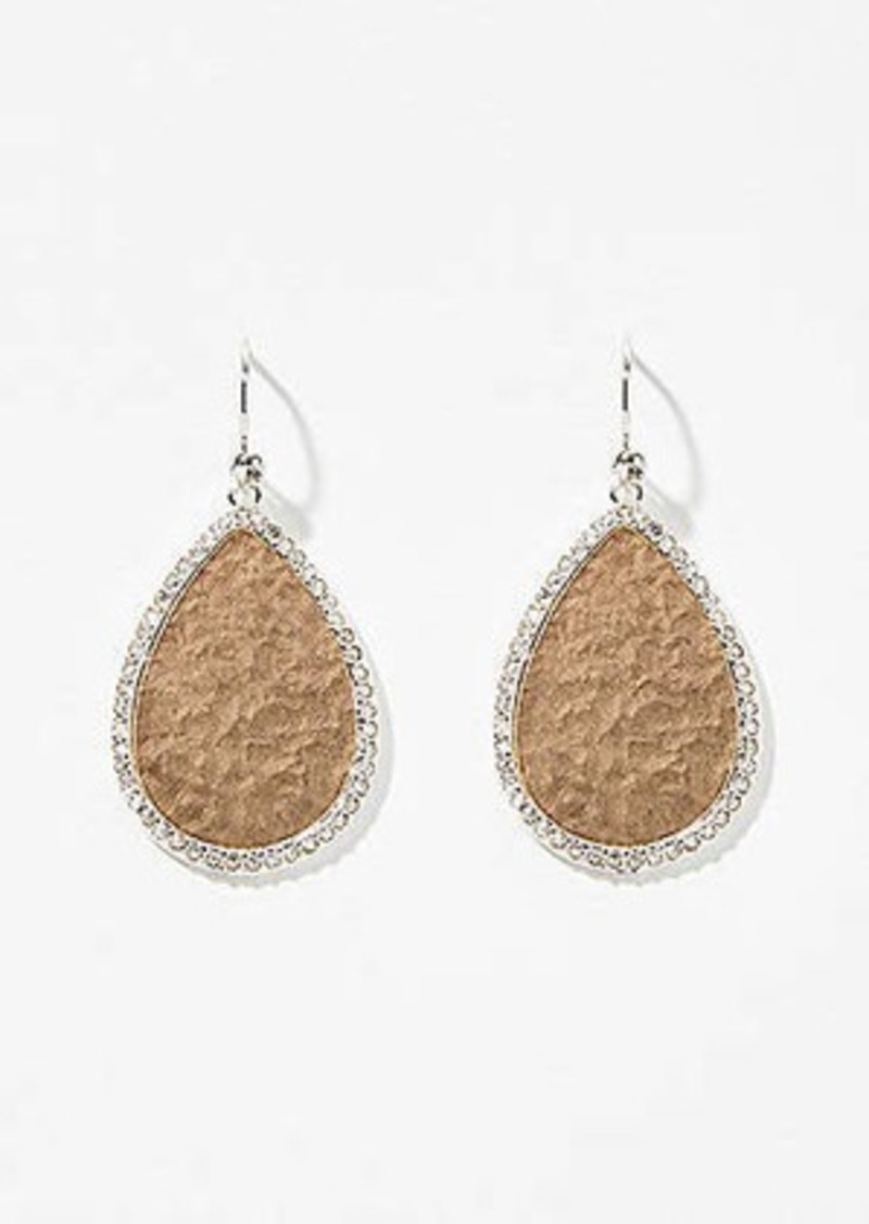 LOFT Pave Bordered Teardrop Earrings