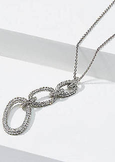 LOFT Pave Chain Link Pendant Necklace