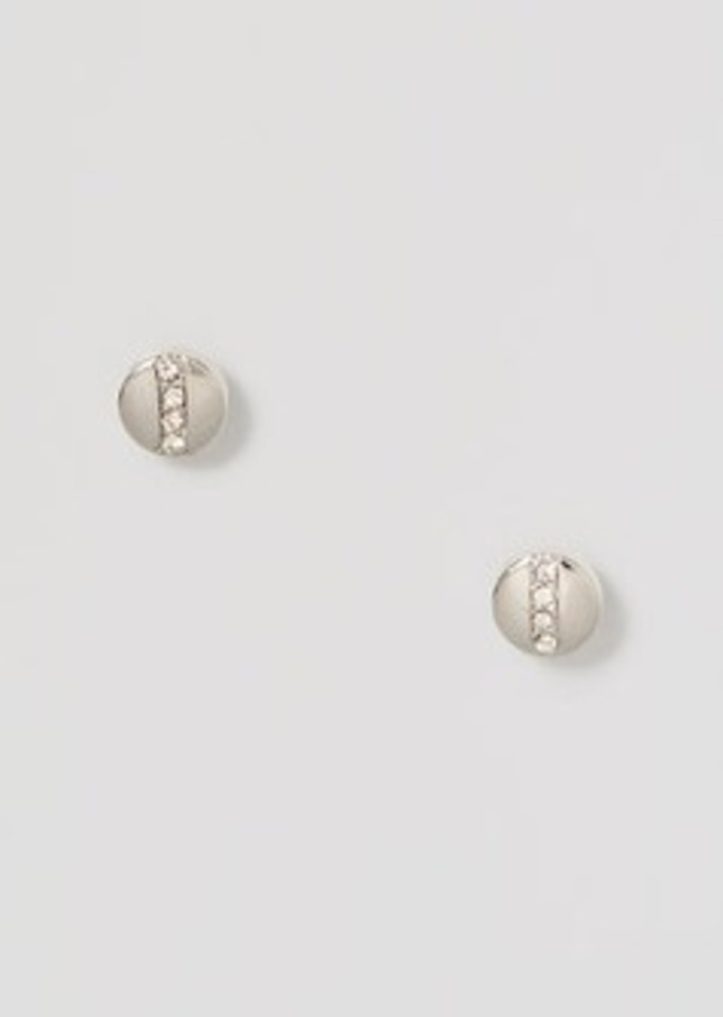 LOFT Pave Circle Stud Earrings