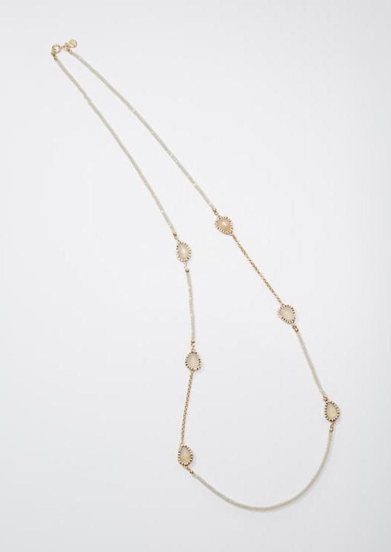 LOFT Pave Crystal Station Necklace