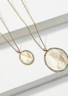 LOFT Pave Drop Pendant Necklace Set