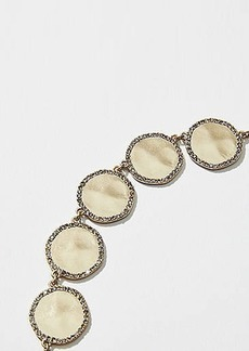 LOFT Pave Drop Statement Necklace