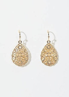 LOFT Pave Filigree Drop Earrings