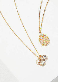 LOFT Pave Filigree Layered Delicate Necklace