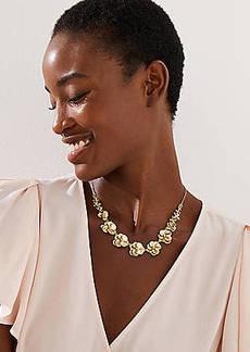 LOFT Pave Floral Necklace