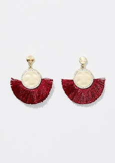 LOFT Pave Fringe Drop Earrings