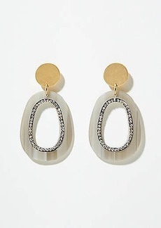 LOFT Pave Resin Drop Earrings