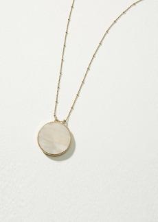LOFT Pave Reversible Pendant Necklace