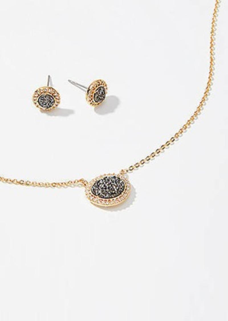 LOFT Pave Stone Earring & Necklace Set