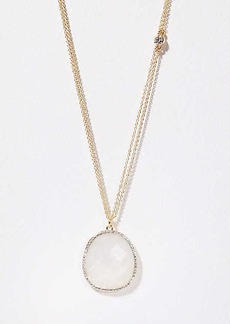 LOFT Pave Stone Pendant Necklace