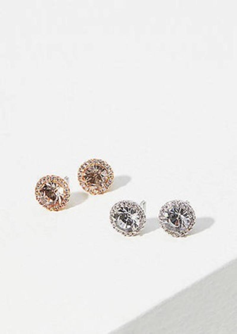 LOFT Pave Stone Stud Earring Set