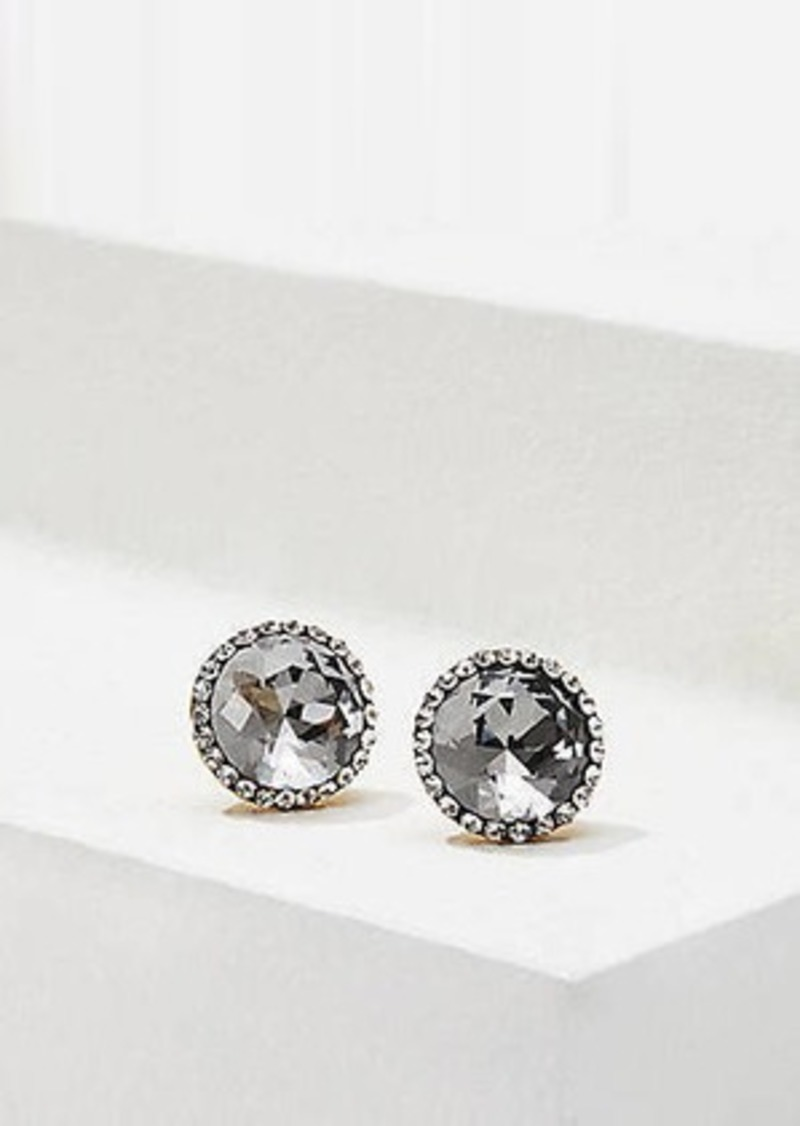 LOFT Pave Stone Stud Earrings