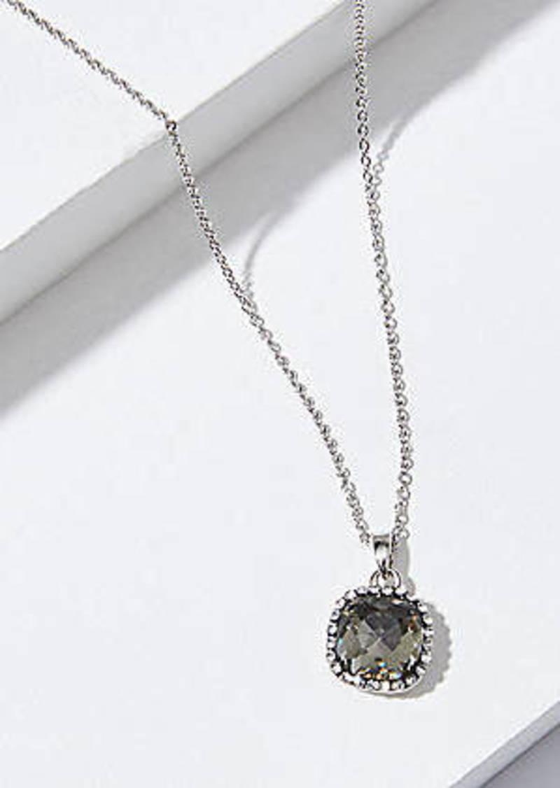LOFT Pave Stone Stud Pendant Necklace