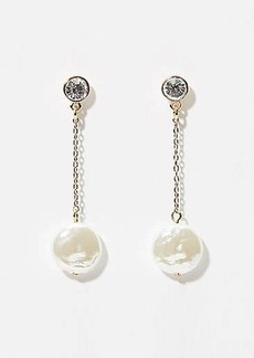 LOFT Pearlized Chain Drop Earrings