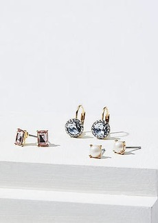 LOFT Pearlized Crystal Earring Set