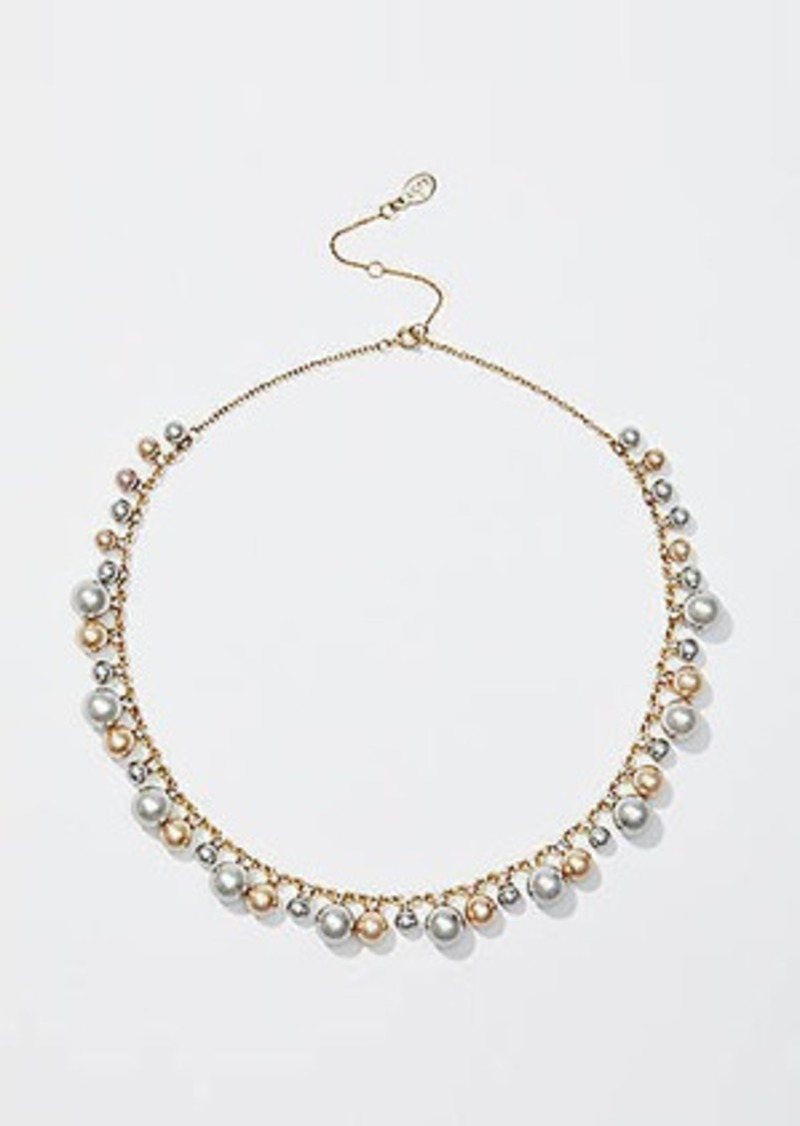 LOFT Pearlized Crystal Necklace