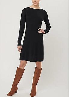 LOFT Pearlized Cuff Flare Sweater Dress