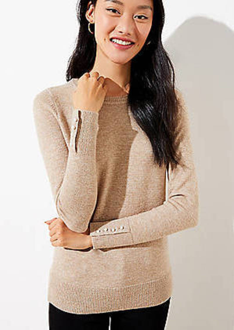 LOFT Pearlized Cuff Sweater