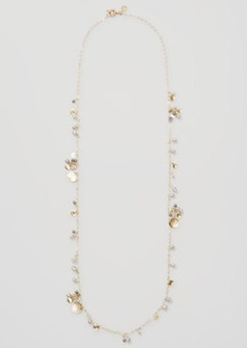 LOFT Pearlized Disc Necklace