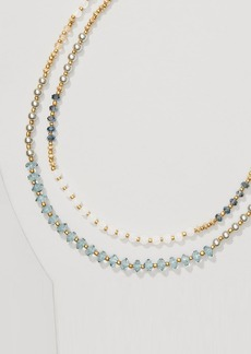 LOFT Pearlized Double Strand Necklace