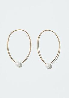 LOFT Pearlized Hoop Earrings