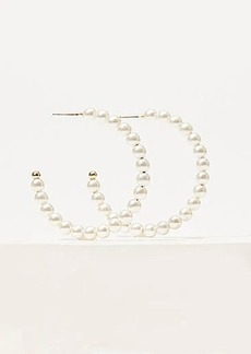 LOFT Pearlized Hoop Earrings
