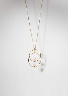 LOFT Pearlized Linked Pendant Necklace