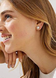 LOFT Pearlized Pave Stud Earrings