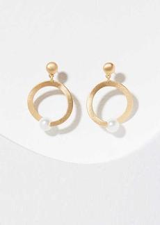 LOFT Pearlized Ring Drop Earrings
