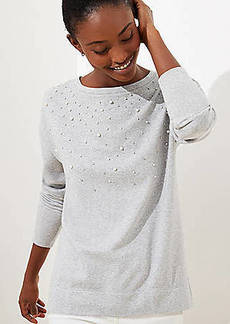 LOFT Pearlized Sparkle Sweatshirt