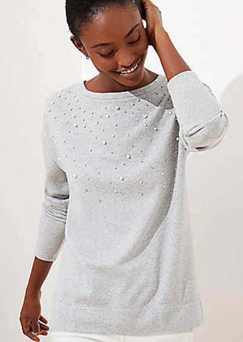 LOFT Pearlized Sparkle Sweatshirt