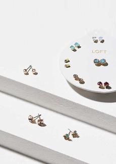 LOFT Pearlized Stone Stud Earring Set